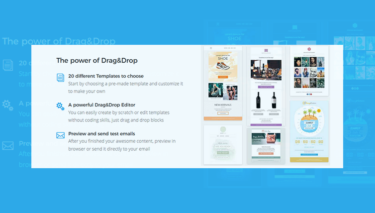 Discover the new templates and make your email more charming