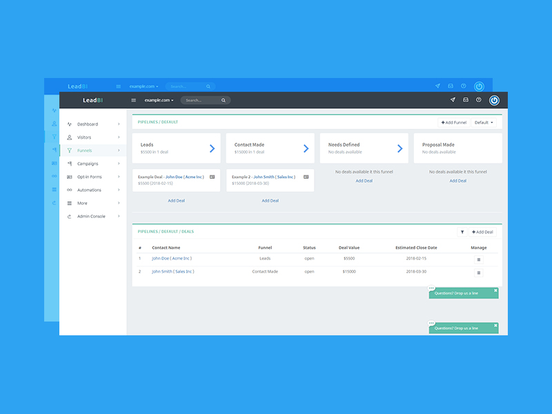 The new LeadBI CRM system