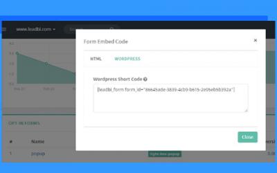Nuova integrazione: WordPress form Shortcode