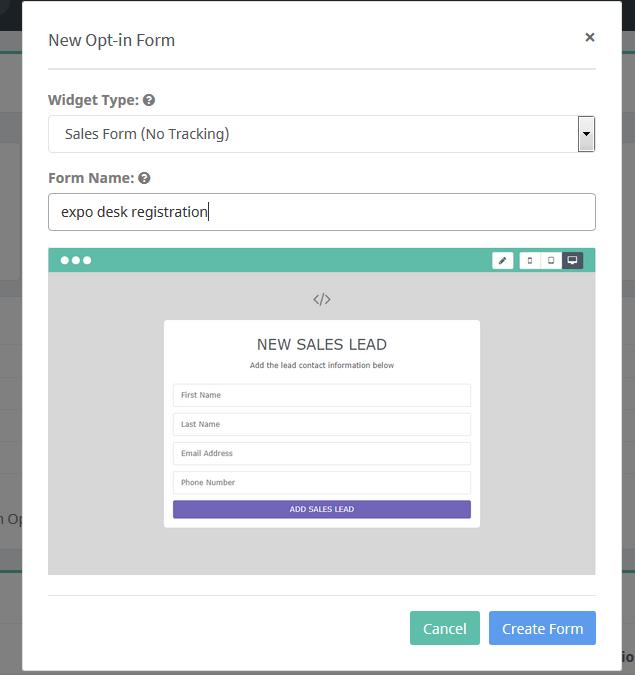 Nuova Funzionalità: Sales Form