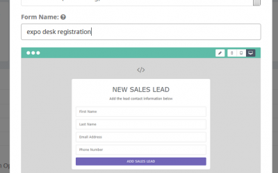 New Feature: Sales form