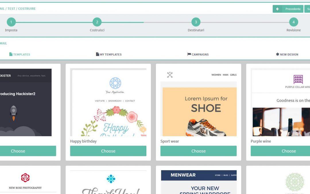 Nuova User Interface per la creazione di campagne email